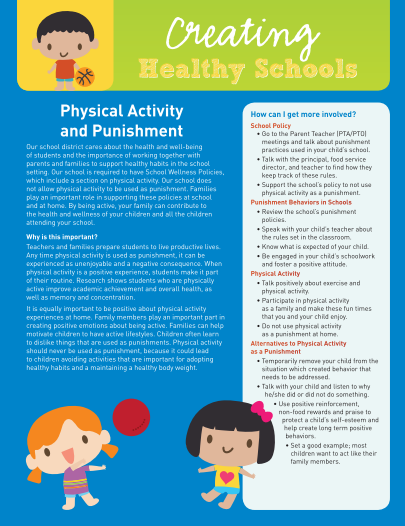Creating Healthy Schools: Physical Activity and Punishment