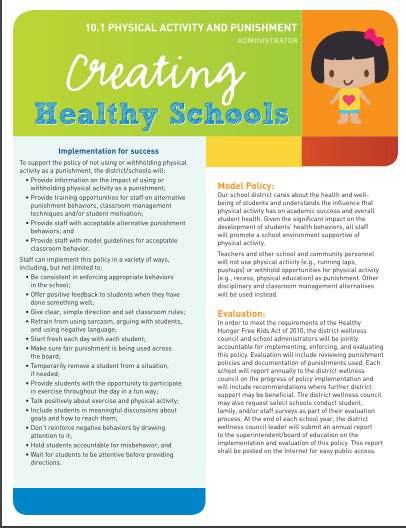 Creating Healthy Schools: Physical Activity and Punishment (Administrator)