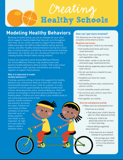Creating Healthy Schools: Modeling Healthy Behaviors