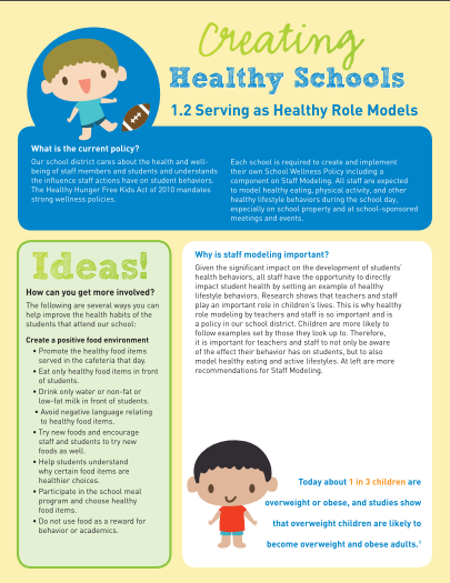 Creating Healthy Schools: Serving as Healthy Role Models