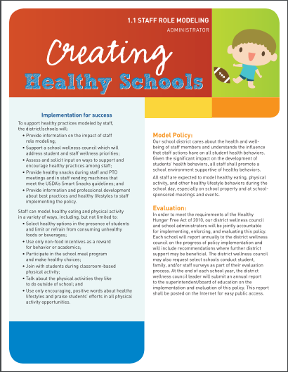 Creating Healthy Schools: Staff Role Modeling (Administrator)
