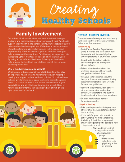 Creating Healthy Schools: Family Involvement (Family)