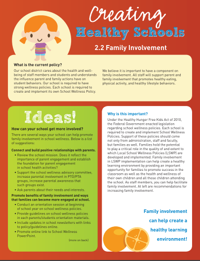 Creating Healthy Schools: Family Involvement (Staff)