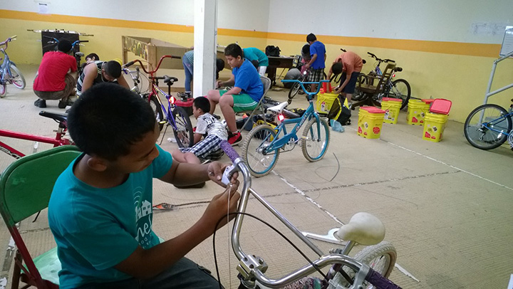 """Earn a Bike"" at Bethel Neighborhood Center."