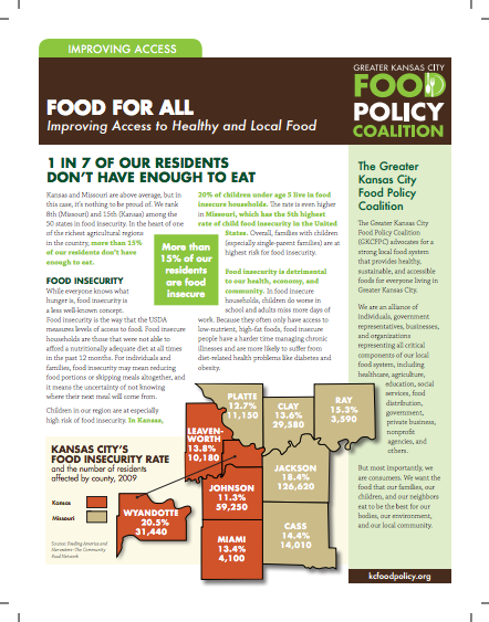 Food for All: Improving Access to Healthy and Local Food