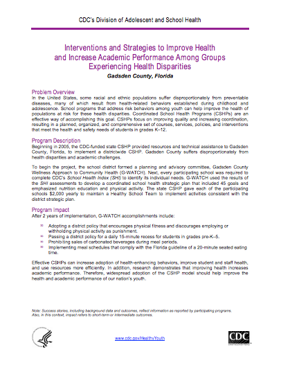 Interventions and Strategies to Improve Health and Increase Academic Performance Among Groups Experiencing Health Disparities