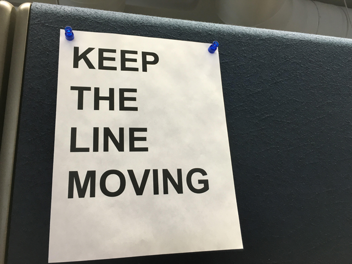 Keep the line moving
