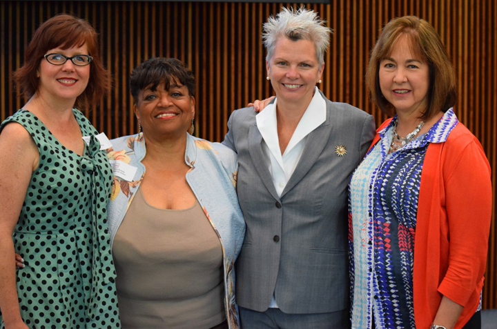 From left: Dr. Jill Peltzer, Dr. Barbara Nichols, Dr. Winifred Quinn, Dr. Cynthia Teel, at the 4th Annual KSAC Summit