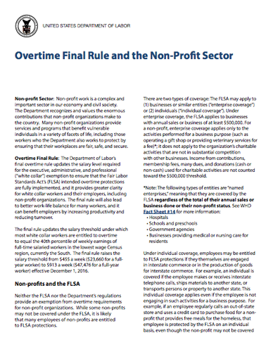 Overtime Nonprofit