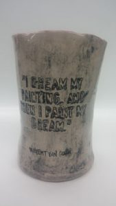 A student's ceramic work while attending ArtsTech