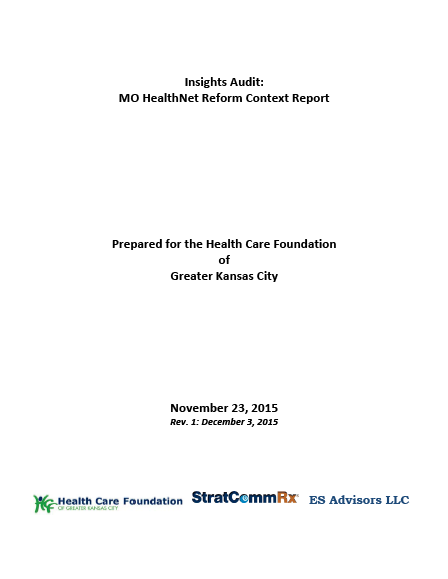 Insights Audit: MO HealthNet Reform Context Report