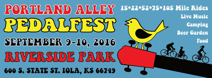 Thrive Allen County is hosting a bike-themed Portland Alley PedalFest Sept. 9 – 11. The three-day family-friendly event will feature camping, bike-in movies, trail bike rides, BBQ, beer garden, live music and much more.