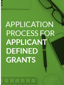 applicant defined grants application