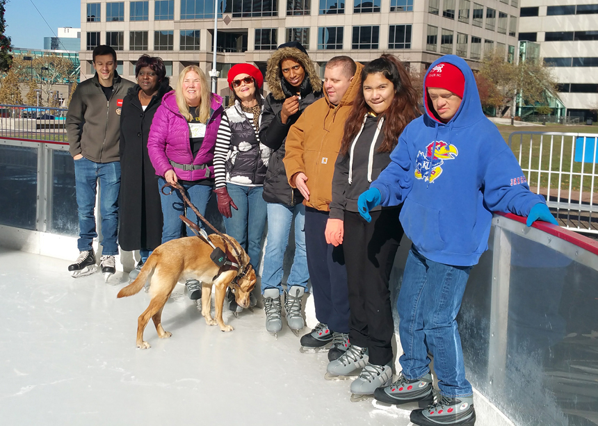 The Whole Person ice skating blind, low vision experience